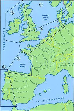 Aufteilung des Nordostantlantiks